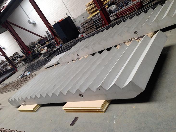 escalier préfabriqué béton